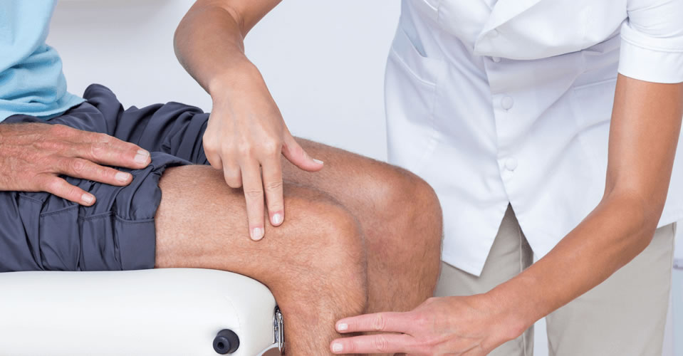 Knee pain relief with massage therapy.