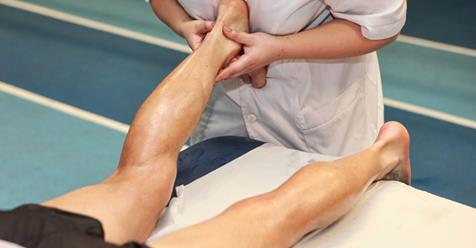 Myofascial release therapy relieves muscle spasm and sciatic nerve pain in the leg.
