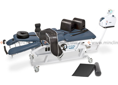 Traction table used for traction in spinal diseases.